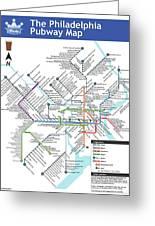 The Philadelphia Pubway Map Greeting Card
