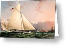 The Philip R. Paulding In New York Harbor Greeting Card