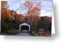 The Phillips Covered Bridge Greeting Card