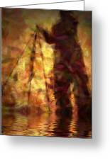 The Photographer In Water Greeting Card by Joyce Dickens