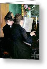 The Piano Lesson Greeting Card by Gustave Caillebotte
