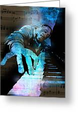 The Piano Man Greeting Card by Paul Sachtleben