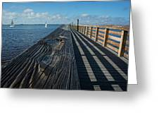 The Pier At Bayshore Live Oak Park - Port Charlotte, Florida Greeting Card