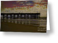 The Pier At Sunset Greeting Card