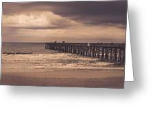 The Pier Before The Storm Greeting Card