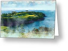 The Pine And Beach Links Greeting Card