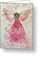 The Pink Angel  Greeting Card