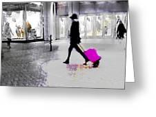 The Pink Bag Greeting Card
