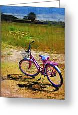 The Pink Bike Greeting Card