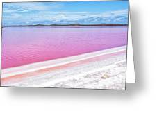 The Pink Diagonal Greeting Card