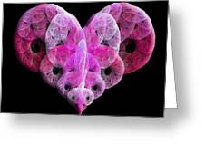 The Pink Heart Greeting Card