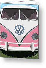 The Pink Love Bus Greeting Card
