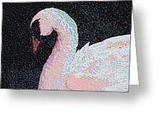 The Pink Swan Greeting Card