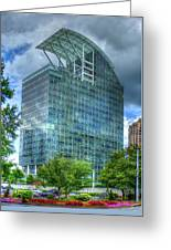 The Pinnacle Reflections Office Buildings Buckhead Atlanta Art Greeting Card
