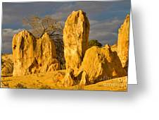 The Pinnacles Nambung National Park Australia Greeting Card
