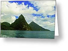 The Pitons Greeting Card