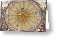 The Planisphere Of Copernicus Harmonia Greeting Card