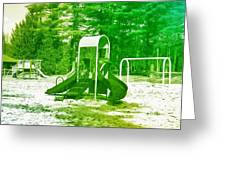 The Playground I - Ocean County Park Greeting Card