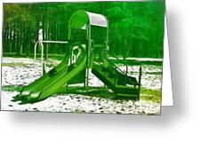 The Playground II - Ocean County Park Greeting Card