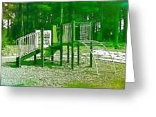 The Playground IIi - Ocean County Park Greeting Card