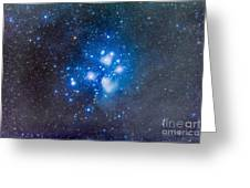 The Pleiades, Also Known As The Seven Greeting Card