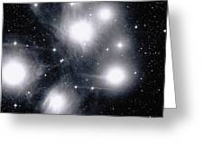 The Pleiades Star Cluster, Also Known Greeting Card by Stocktrek Images