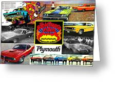 The Plymouth Rapid Transit System Collage Greeting Card