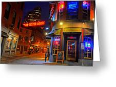 The Point Marshall Street Boston Ma Greeting Card