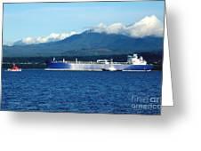 The Polar Resolution Oil Tanker Port Angeles Harbor Wa Greeting Card
