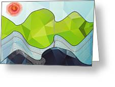 The Poly Landscape Greeting Card