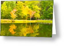 The Pond At Alpine Greeting Card