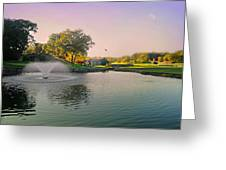 The Pond Fountain Greeting Card