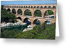 The Pont Du Gard Greeting Card by Sami Sarkis