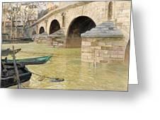 The Pont Marie. Paris Greeting Card