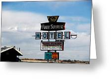 The Pony Soldier Motel On Route 66 Greeting Card