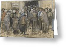 The Poor And Money The Hague, September - October 1882 Vincent Van Gogh 1853  1890 Greeting Card