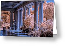The Porch Of The European Collection Art Gallery At The Huntington Library In Infrared Greeting Card
