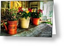 The Porch Swing Greeting Card