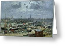 The Port Of Bordeaux Greeting Card by Eugene Louis Boudin