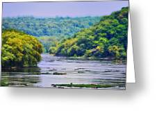 The Potomac Greeting Card by Bill Cannon