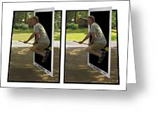 The Potter Effect - Gently Cross Your Eyes And Focus On The Middle Image Greeting Card