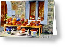 The Pottery Shop Greeting Card
