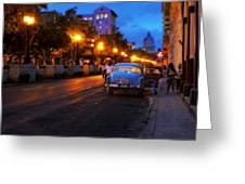 The Prado, Havana Cuba Greeting Card