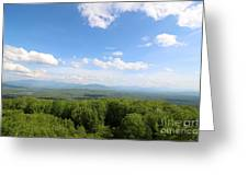 The Presidential Range From The Watchtower At Weeks State Park Greeting Card