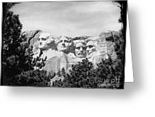 The Presidents Four Greeting Card