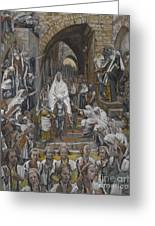 The Procession In The Streets Of Jerusalem Greeting Card