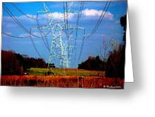 The Progression Of Progress - Electrified Greeting Card