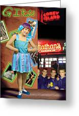 The Promise Of The Hoochi Coochie Showman's Daughter Greeting Card