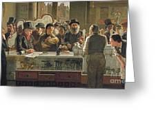 The Public Bar Greeting Card by John Henry Henshall