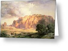 The Pueblo Of Acoma In New Mexico Greeting Card by Thomas Moran